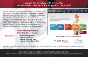 Caring for persons with dementia postcard