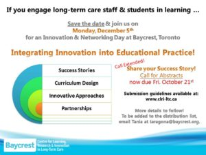December 5, 2016 Baycrest CLRI Education Day