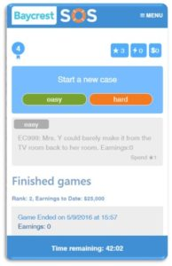 Screen shot of SOS Gaming App