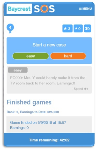 SOS Gamified Simulation App
