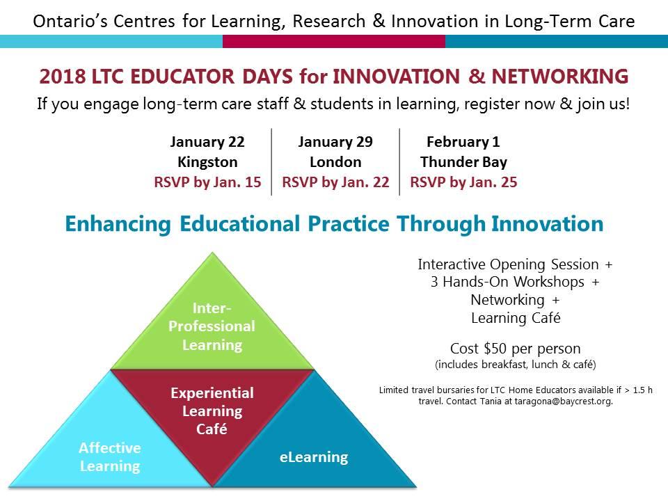 CLRI 2018 Educator Days Poster