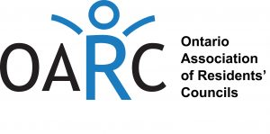 Ontario Association of Residents' Councils logo- black and blue