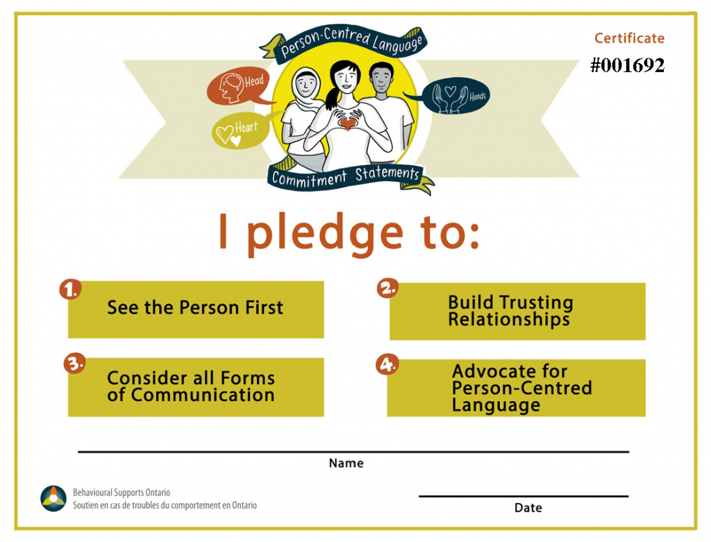 Pledge Certificate